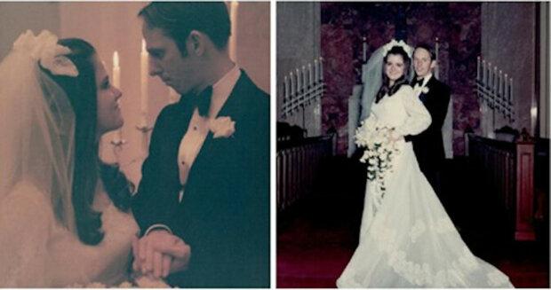 """50 let v dokonalé harmonii: manželé oslavili svou """"zlatou svatbu"""" pečlivou rekonstrukcí starých fotografií"""