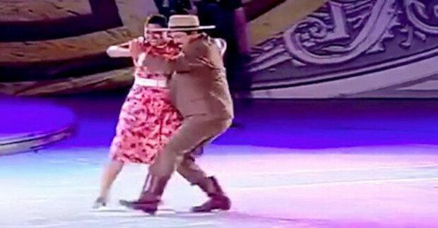Živý a krásný tanec baculatého páru