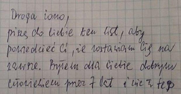 Muž napsal ženě dopis se žádostí o rozvod. Podívejte se, jak mu geniálně odpověděla