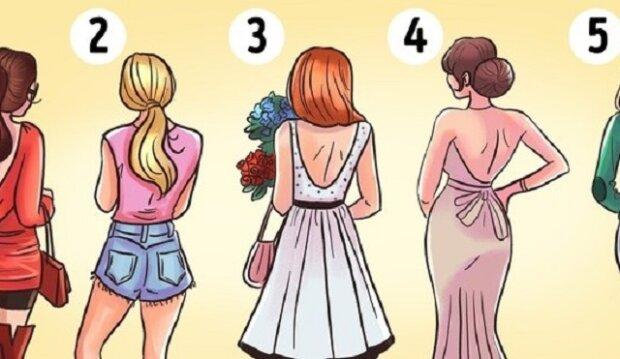Podívejte se co znamená váš výběr ženy: která žena bude podle vás nejkrásnější po tom, co se otočí?