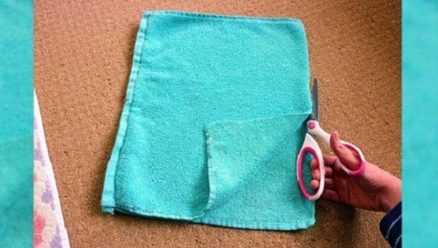 Rozstříhala starý ručník, ale co z něj udělala? Sama musím něco takového mít