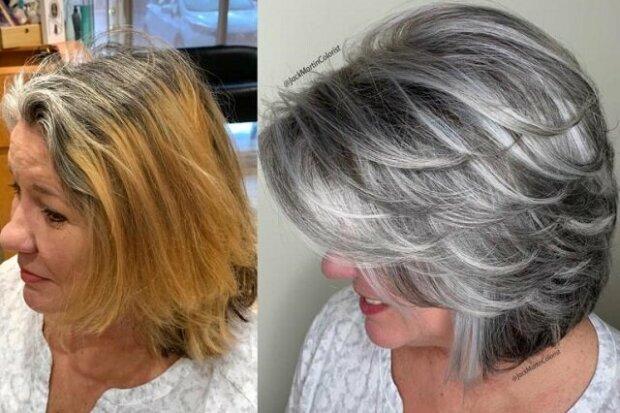 Kadeřník Jack Martin prokázal, že šedé vlasy mohou být krásné
