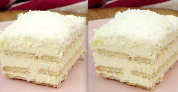 Domácí koláč rafaello a bez pečení