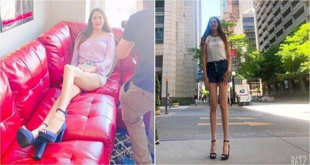 Dar přírody: Dívka má jedny z nejdelších nohou na světě