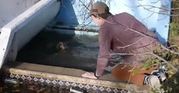 Dva mladíci si všimli psů: snažili se je přivést ke svému kamarádovi, aby ho zachránili